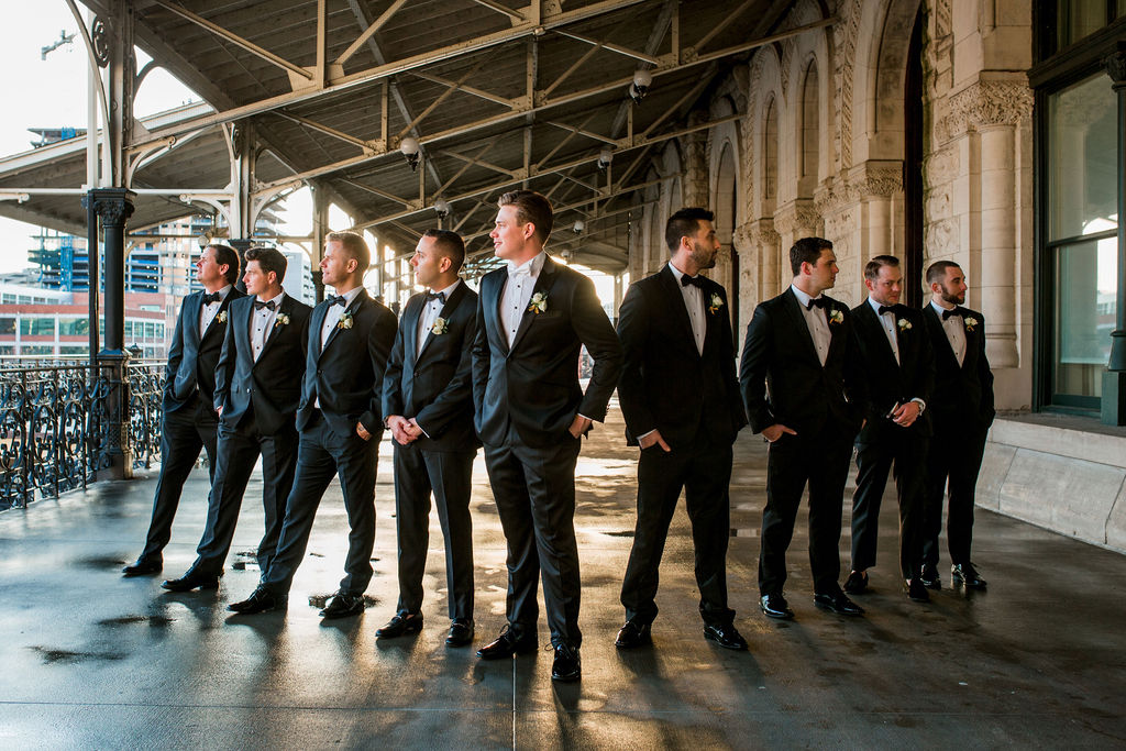 Groomsmen attire: Lavish Union Station Hotel Wedding featured on Nashville Bride Guide