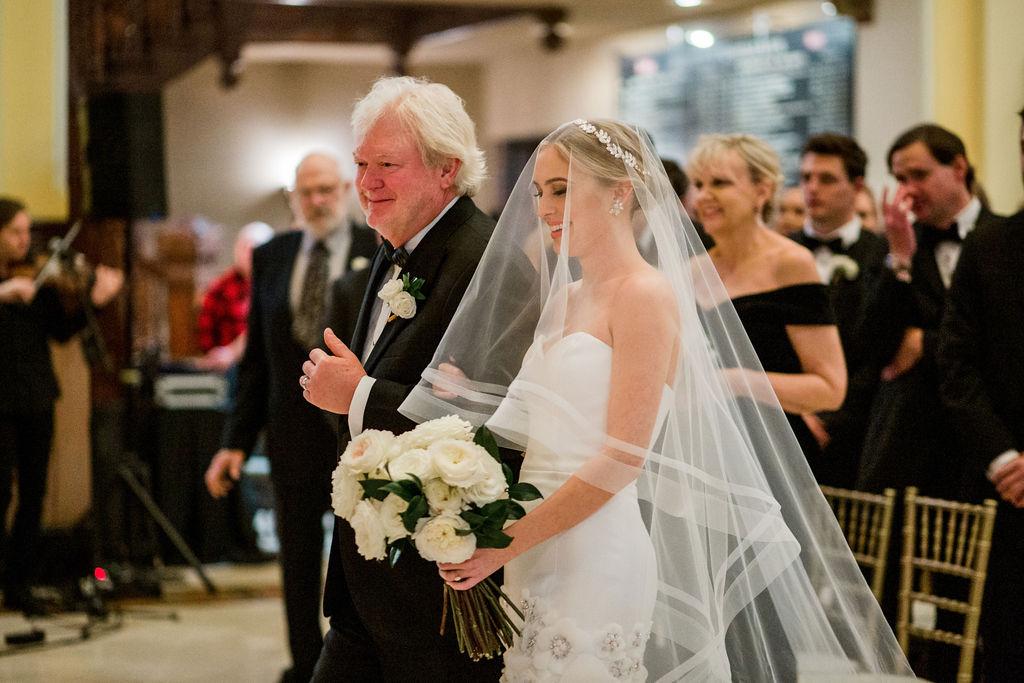 Wedding ceremony at Union Station Hotel: Lavish Union Station Hotel Wedding featured on Nashville Bride Guide