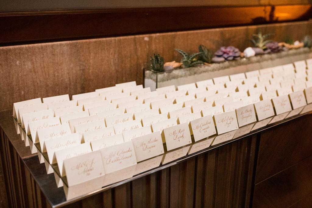 Wedding escort card table: Lavish Union Station Hotel Wedding featured on Nashville Bride Guide