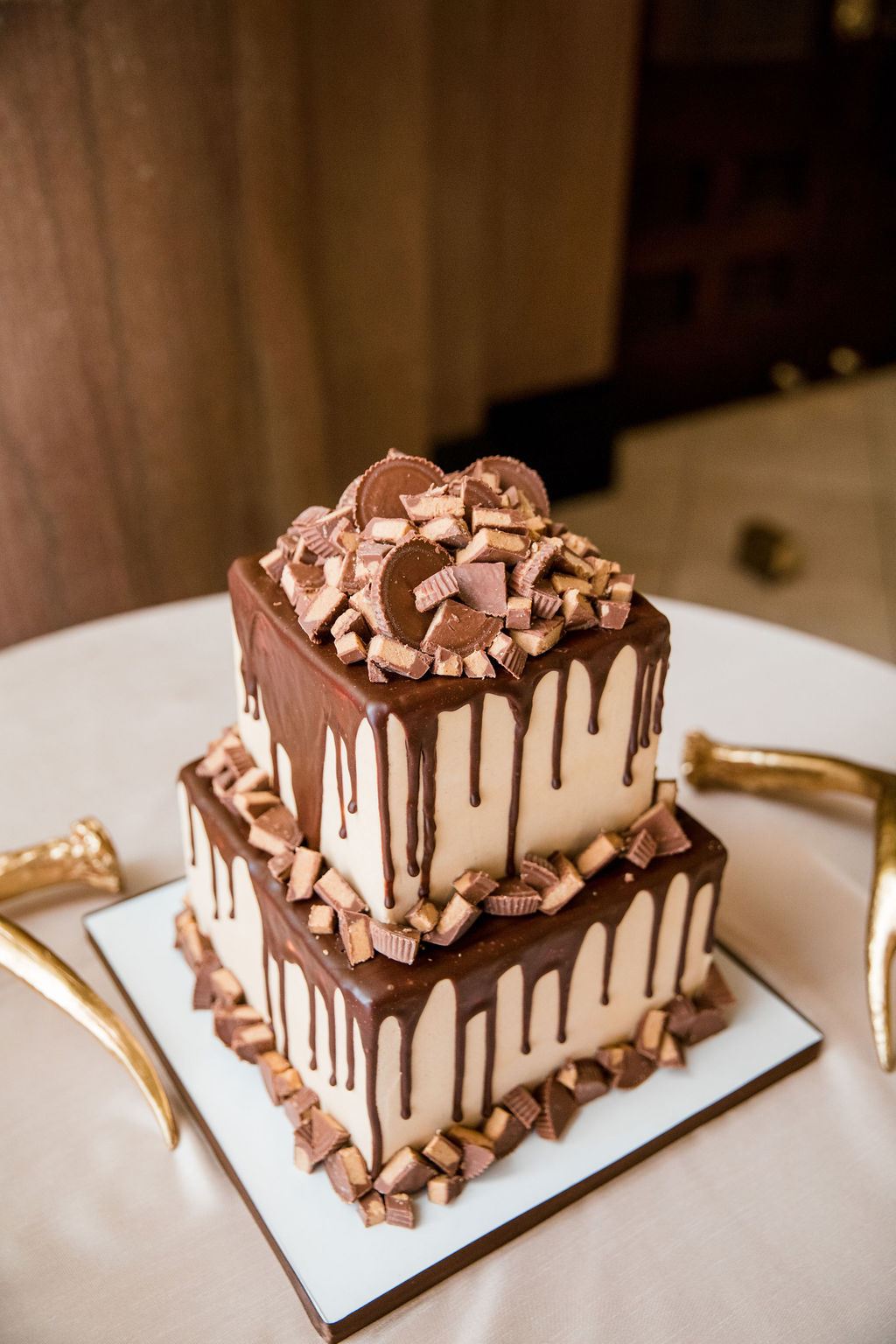 Chocolate groom's cake: Nashville wedding by John Myers Photography featured on Nashville Bride Guide
