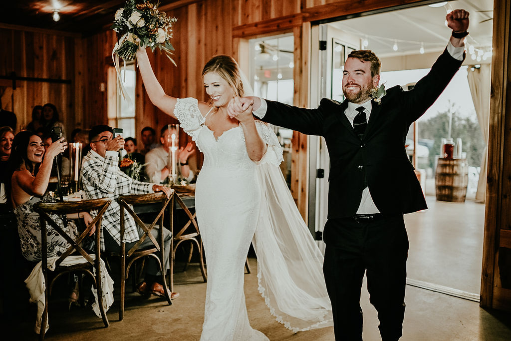 Bride and groom grand entrance: Glenai Gilbert Photography featured on Nashville Bride Guide