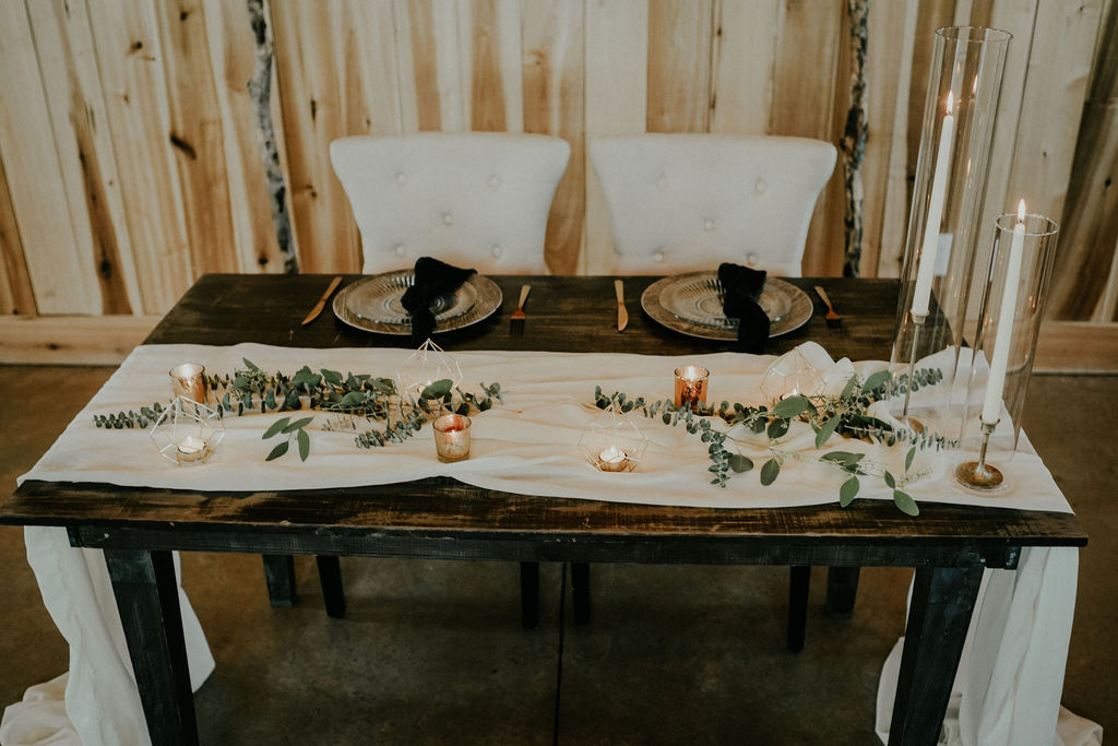 Boho wedding sweetheart table: Boho Barn Wedding by Melissa Marie Floral Designs