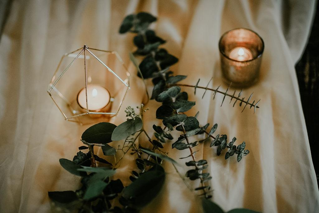 Greenery wedding decor: Boho Barn Wedding by Melissa Marie Floral Designs