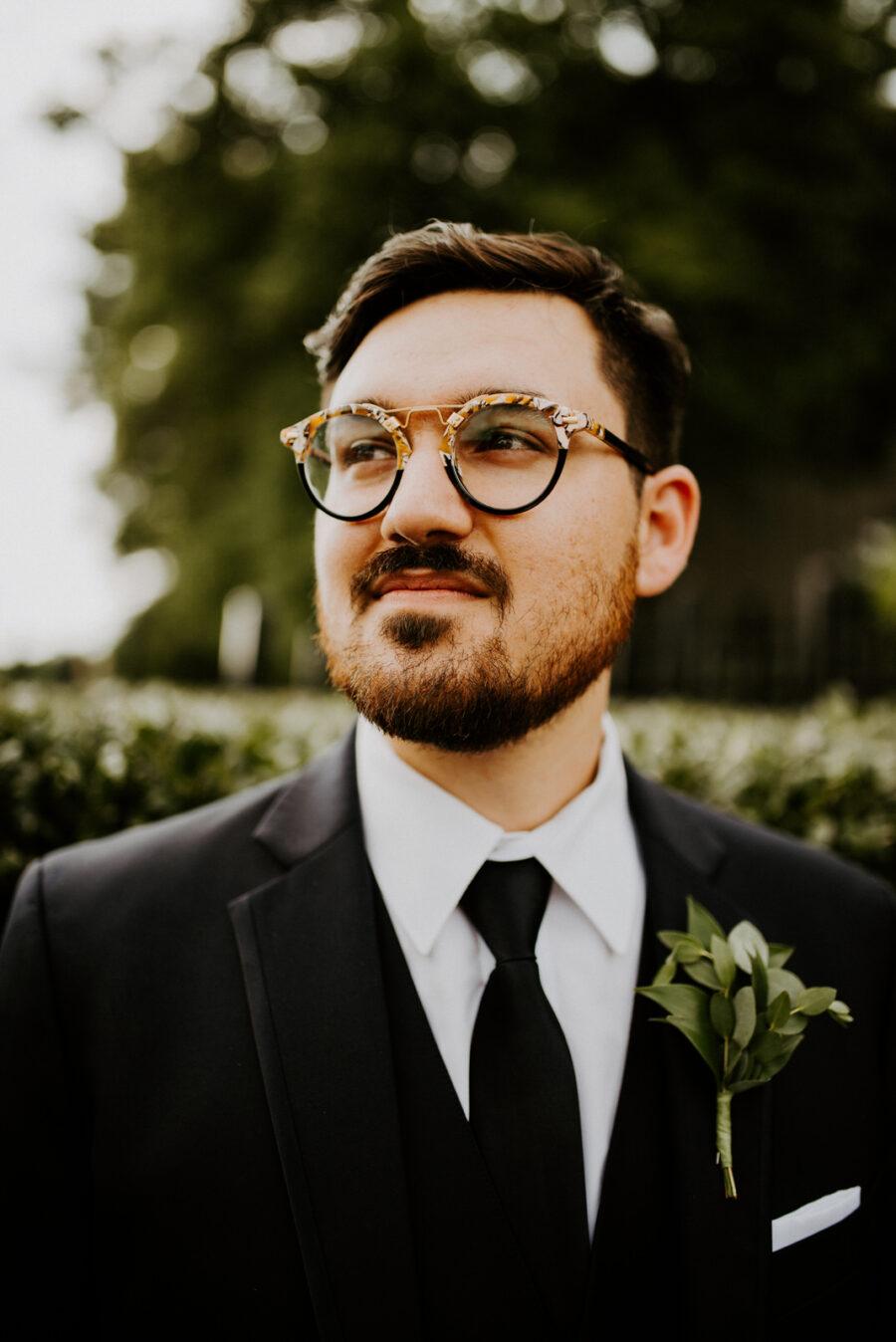 Groom's portrait: Romantic Nashville Wedding at The Bedford featured on Nashville Bride Guide