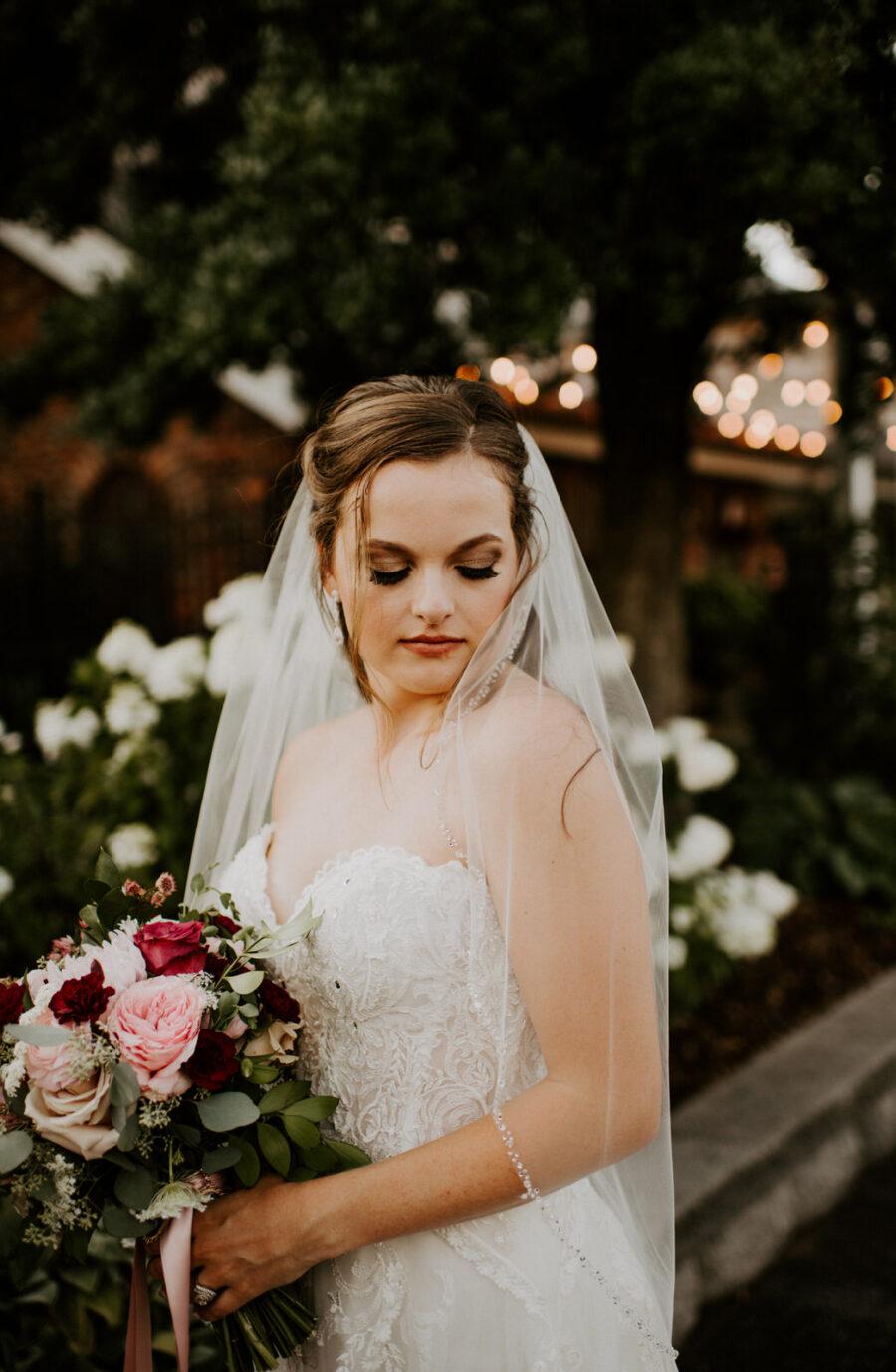 Bridal portrait: Romantic Nashville Wedding at The Bedford featured on Nashville Bride Guide