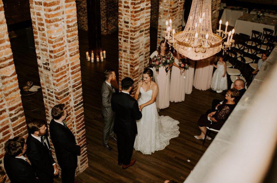 Wedding ceremony photo: Romantic Nashville Wedding at The Bedford featured on Nashville Bride Guide