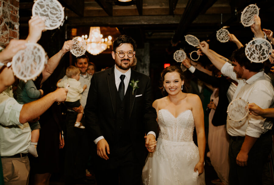 Wedding exit photo: Romantic Nashville Wedding at The Bedford featured on Nashville Bride Guide