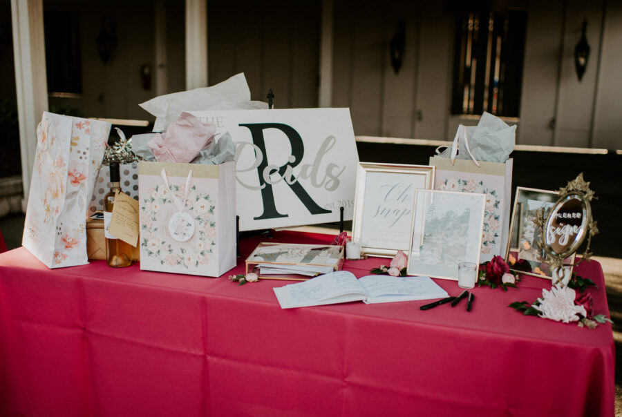 Wedding gift and card table: Romantic Nashville Wedding at The Bedford featured on Nashville Bride Guide
