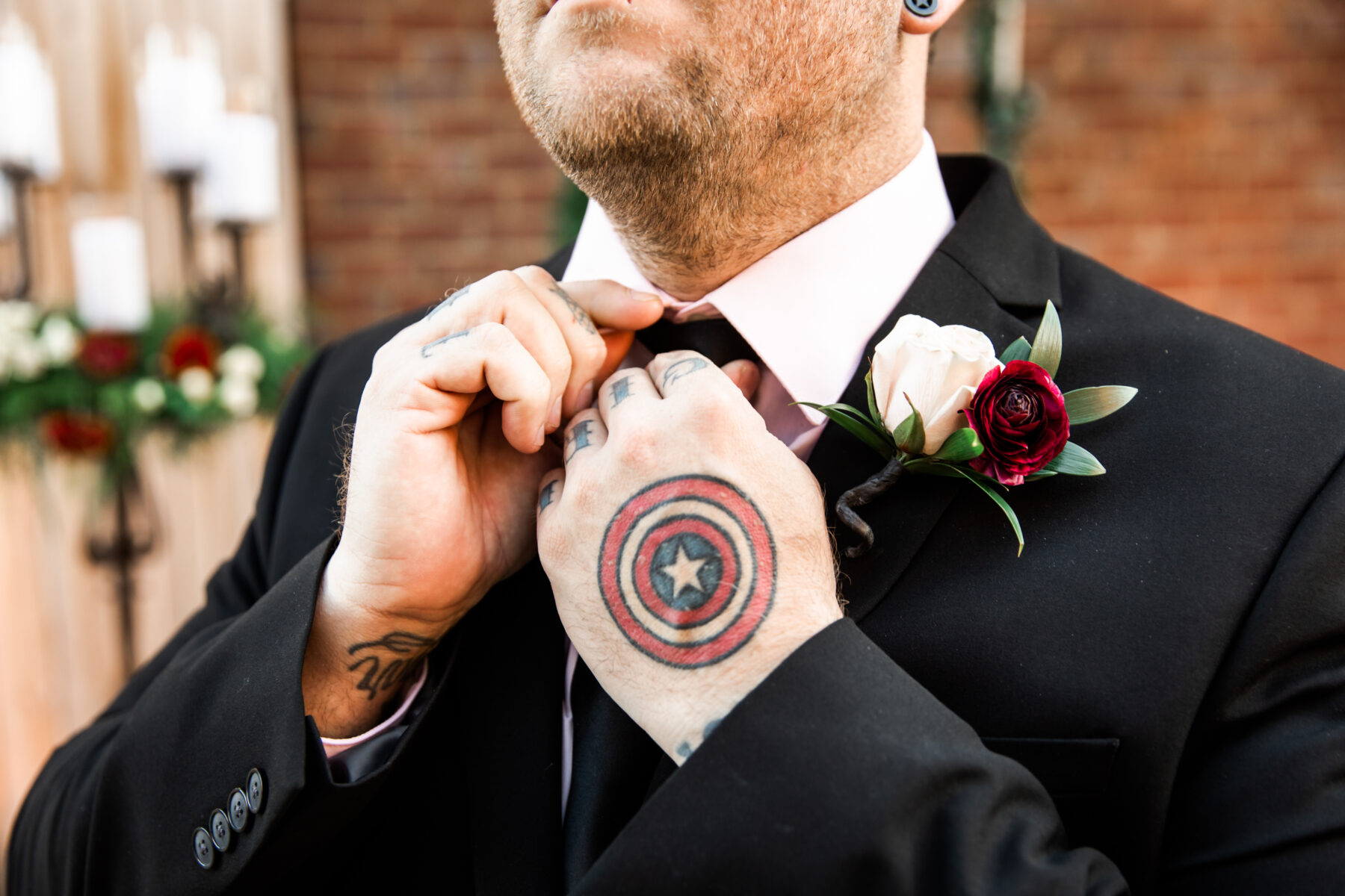 Groom's boutonniere: Nashville Wish Upon a Wedding captured by Nyk + Cali Photography featured on Nashville Bride Guide