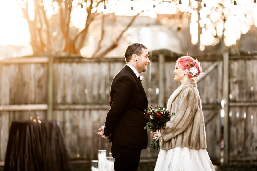 Bride and groom portrait: Nashville Wish Upon a Wedding captured by Nyk + Cali Photography featured on Nashville Bride Guide