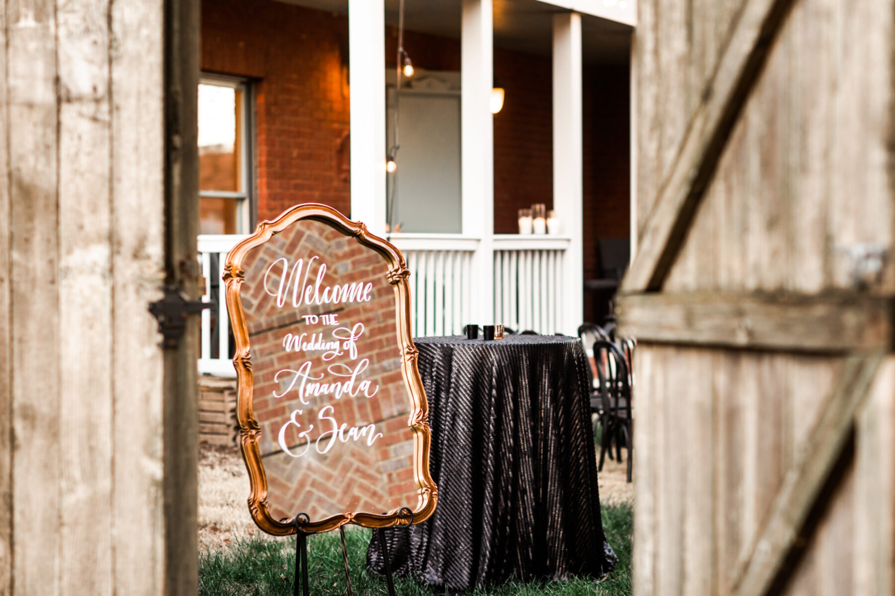 Wedding welcome sign: Nashville Wish Upon a Wedding captured by Nyk + Cali Photography featured on Nashville Bride Guide