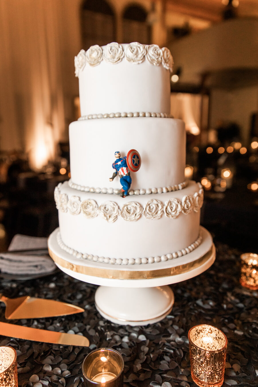 Winter wedding cake design: Nashville Wish Upon a Wedding captured by Nyk + Cali Photography featured on Nashville Bride Guide