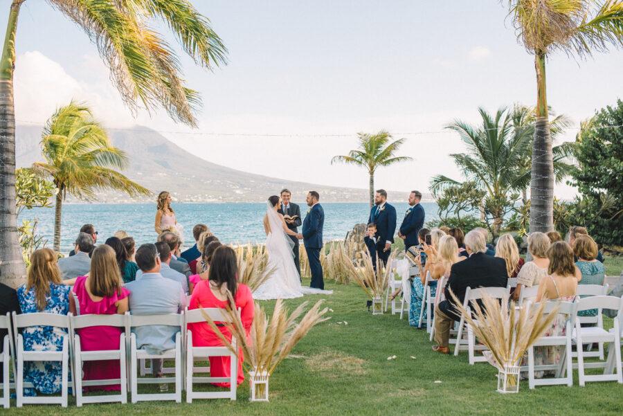Outdoor Caribbean wedding ceremony: Intimate Caribbean Wedding by Details Nashville