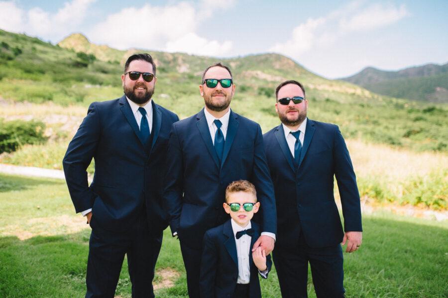 Groom and groomsmen: Intimate Caribbean Wedding by Details Nashville