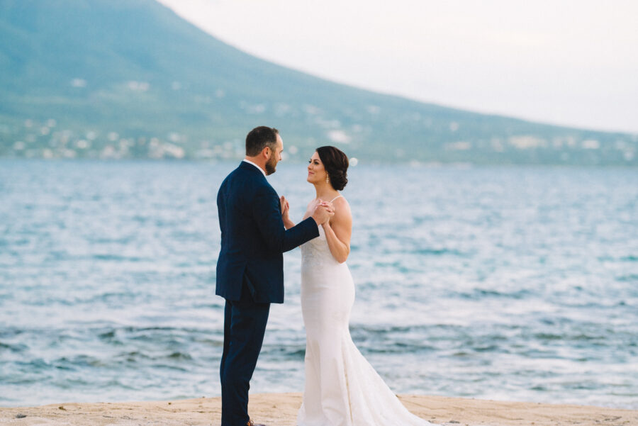 Caribbean Sea wedding portrait: Intimate Caribbean Wedding by Details Nashville