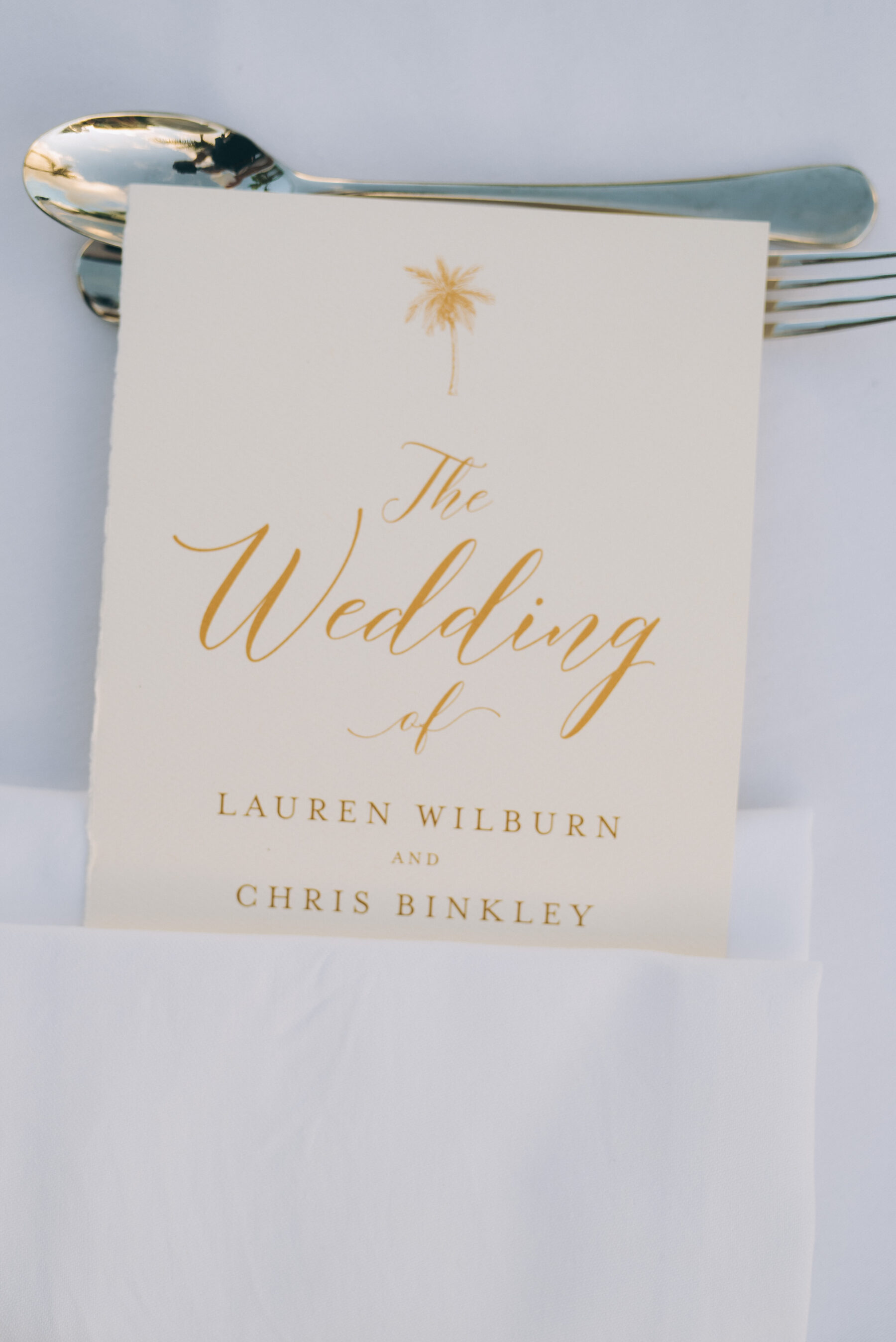 Gold and ivory wedding stationery design: Intimate Caribbean Wedding by Details Nashville