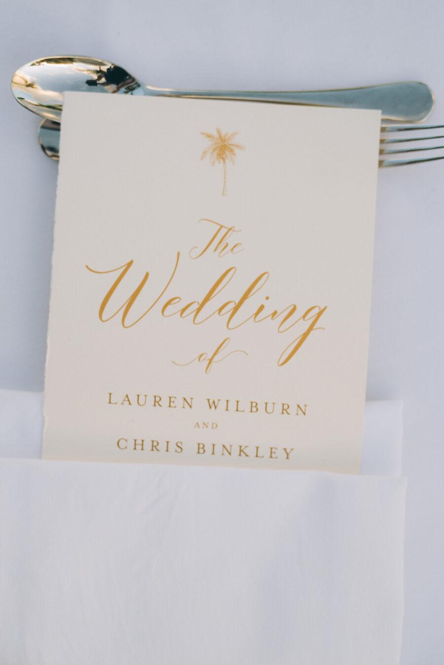 Gold and ivory wedding stationery design: Intimate Caribbean Wedding by Details Nashville