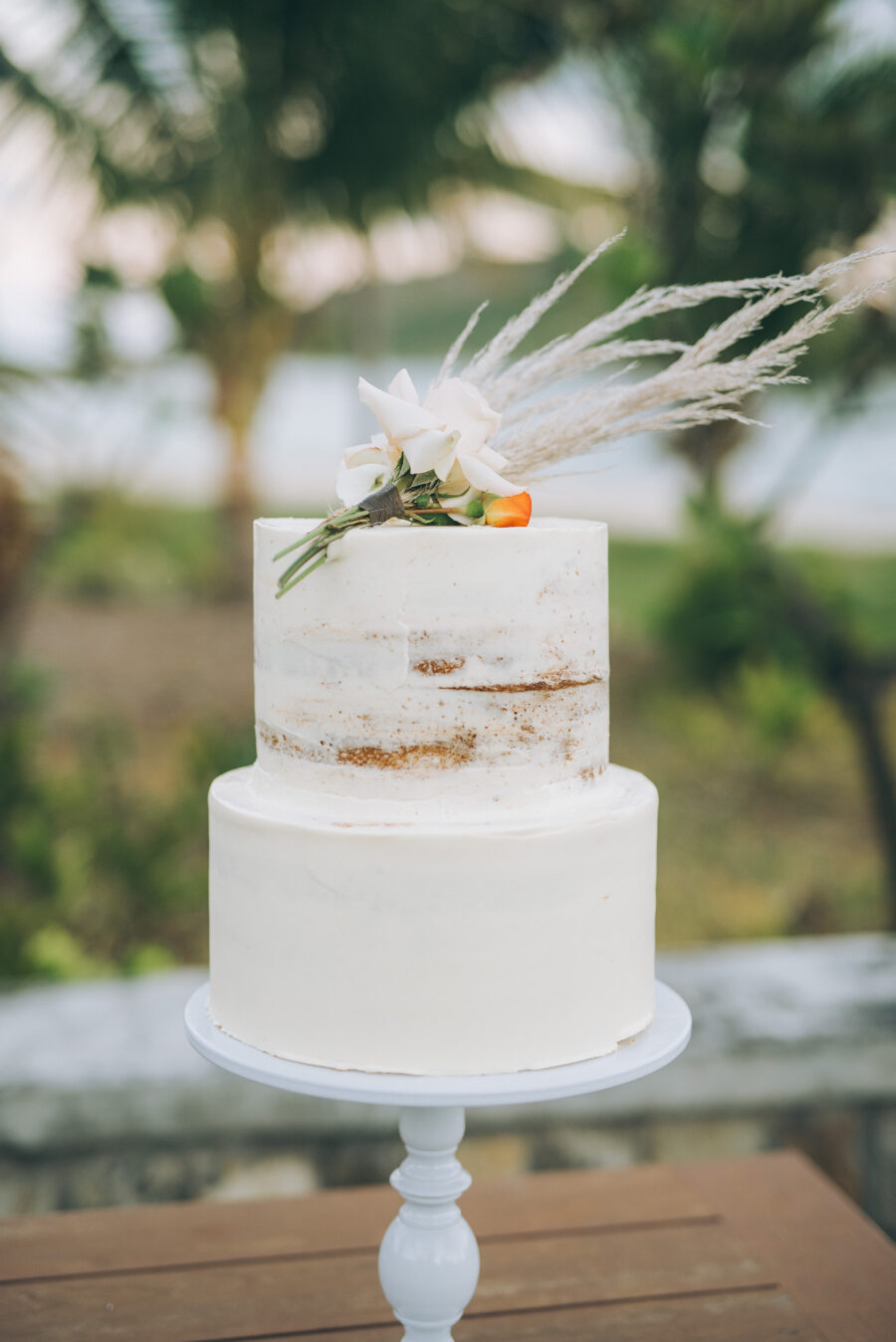Caribbean wedding cake design: Intimate Caribbean Wedding by Details Nashville