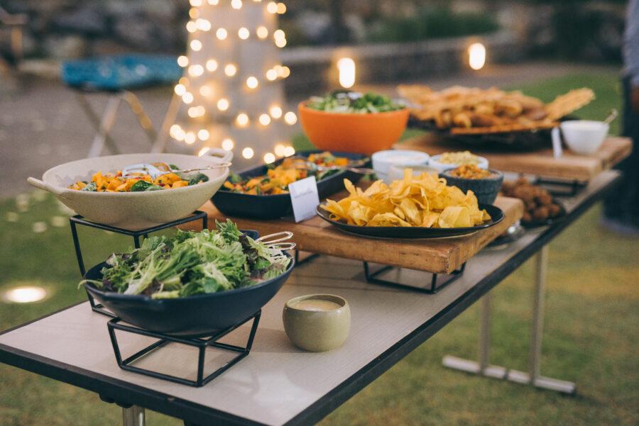Wedding food display: Intimate Caribbean Wedding by Details Nashville