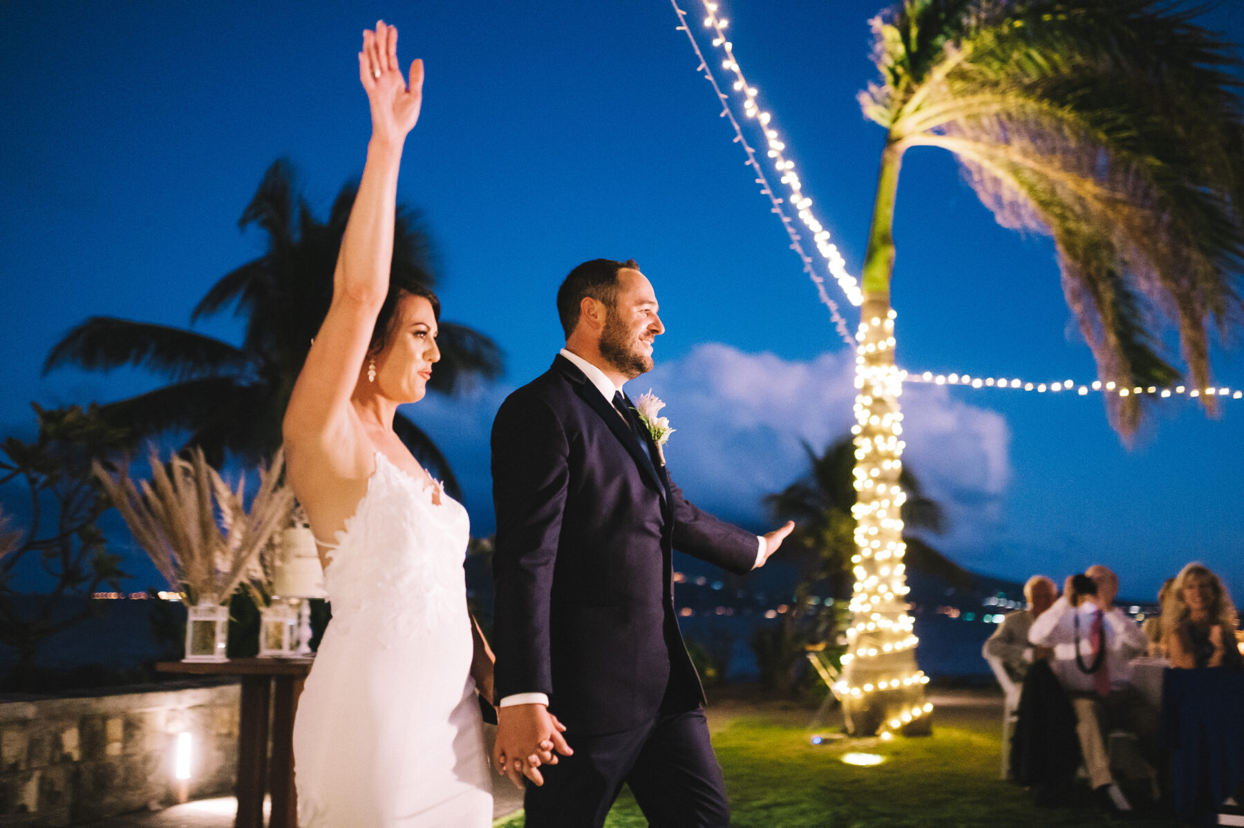 Grand wedding entrance: Intimate Caribbean Wedding by Details Nashville