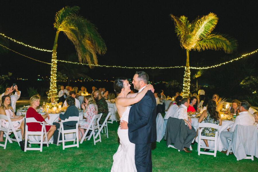 Wedding first dance: Intimate Caribbean Wedding by Details Nashville featured on Nashville Bride Guide