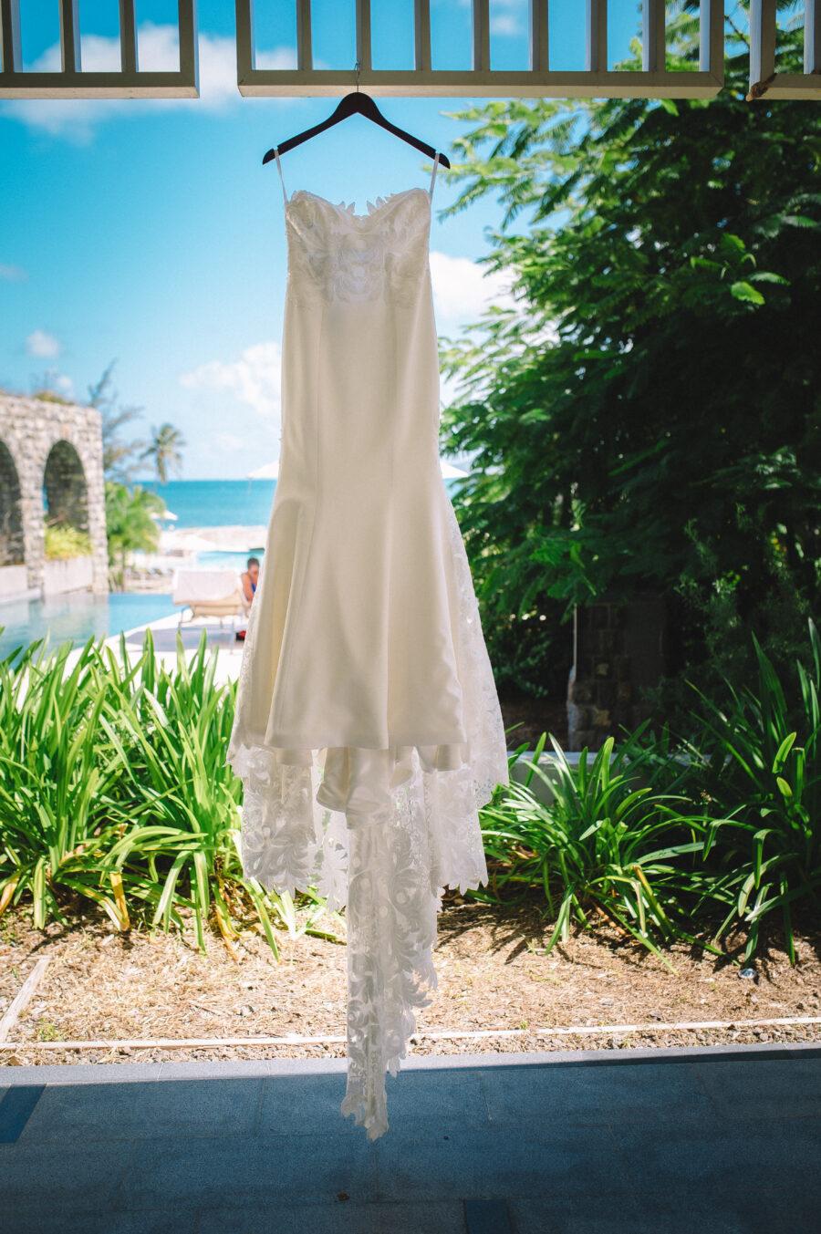 Wedding dress portrait: Intimate Caribbean Wedding by Details Nashville featured on Nashville Bride Guide