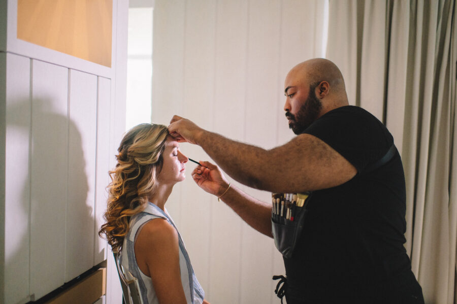 Wedidng hair and makeup: Intimate Caribbean Wedding by Details Nashville featured on Nashville Bride Guide