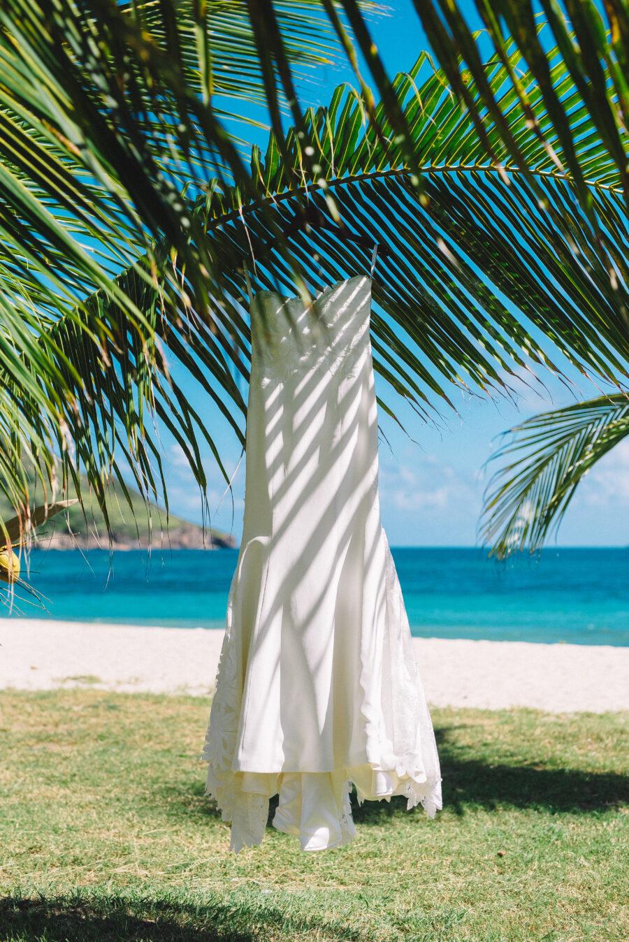 Beach wedding dress: Intimate Caribbean Wedding by Details Nashville featured on Nashville Bride Guide