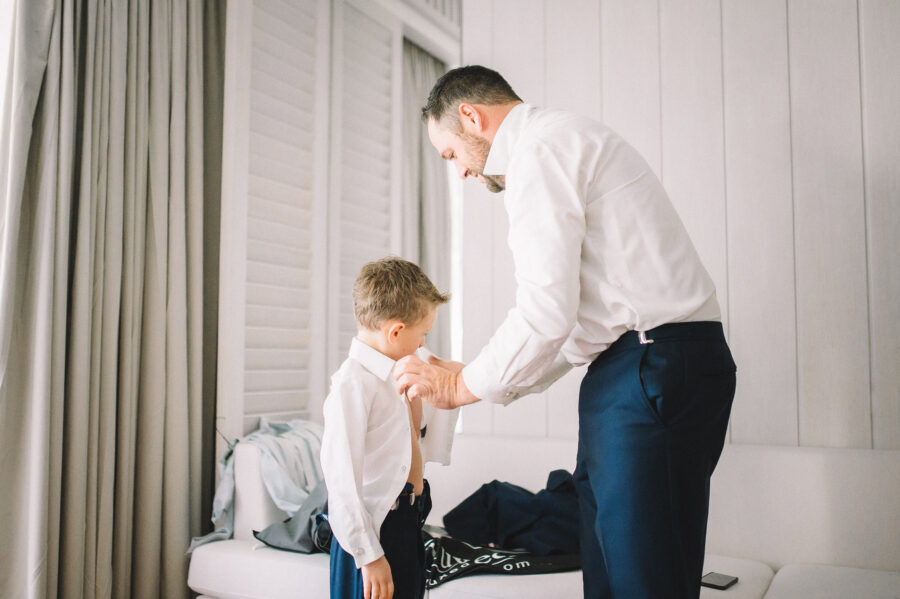 Groom getting ready: Intimate Caribbean Wedding by Details Nashville featured on Nashville Bride Guide