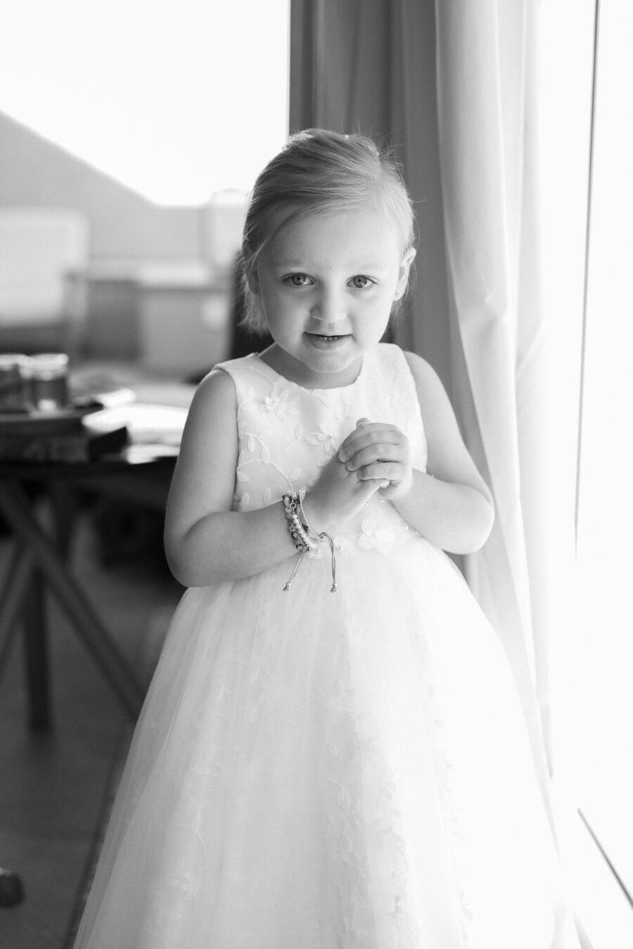 Flower girl portrait: Intimate Caribbean Wedding by Details Nashville featured on Nashville Bride Guide