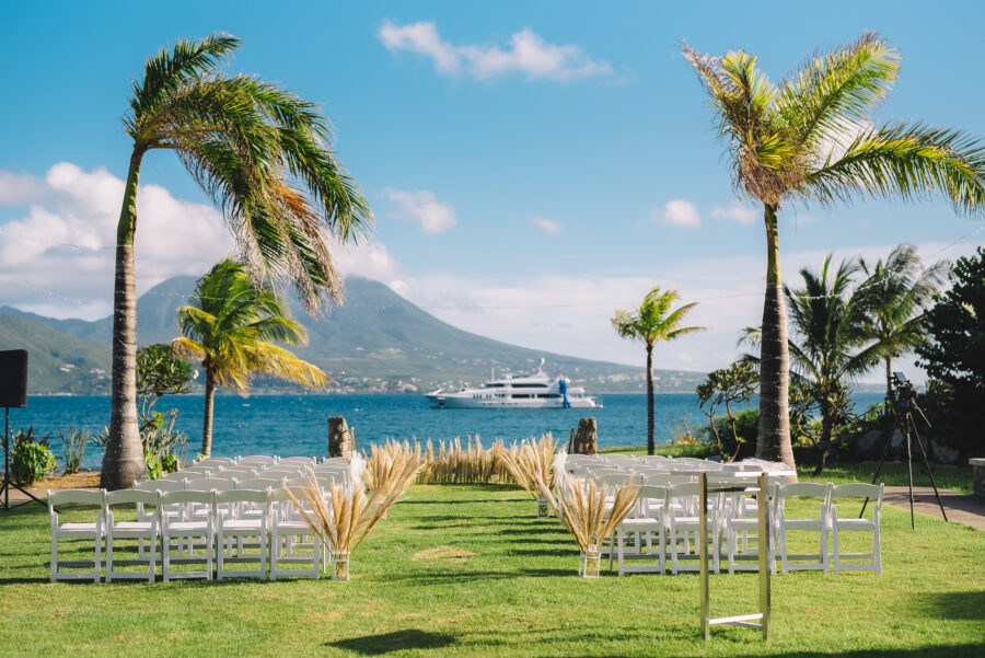 Tropical beach wedding ceremony: Intimate Caribbean Wedding by Details Nashville featured on Nashville Bride Guide