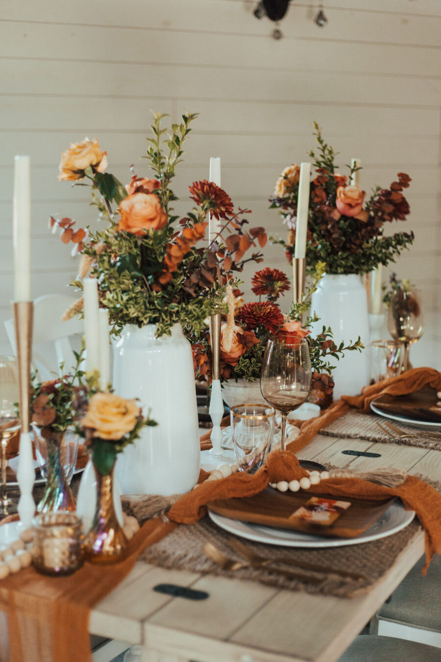 Wedding centerpieces: Bright Bohemian Photo Shoot from Ina J Designs