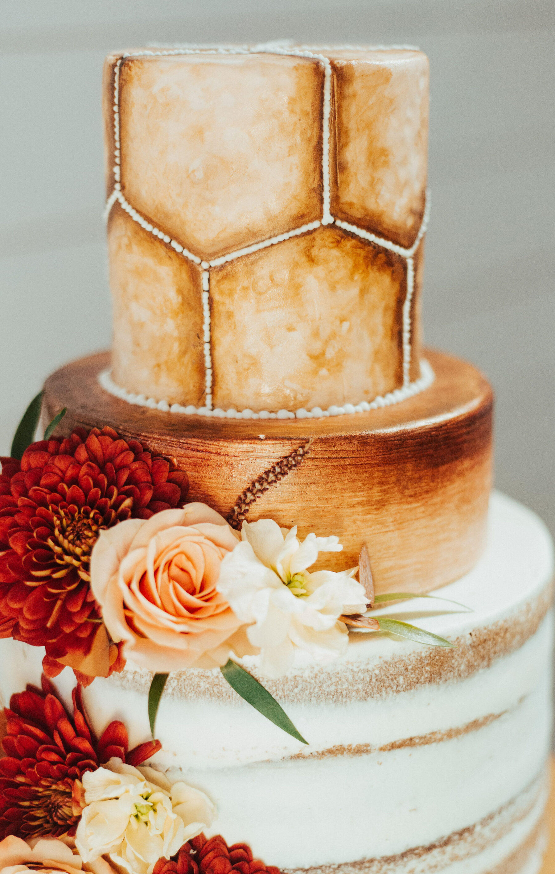 Boho wedding cake design: Bright Bohemian Photo Shoot from Ina J Designs