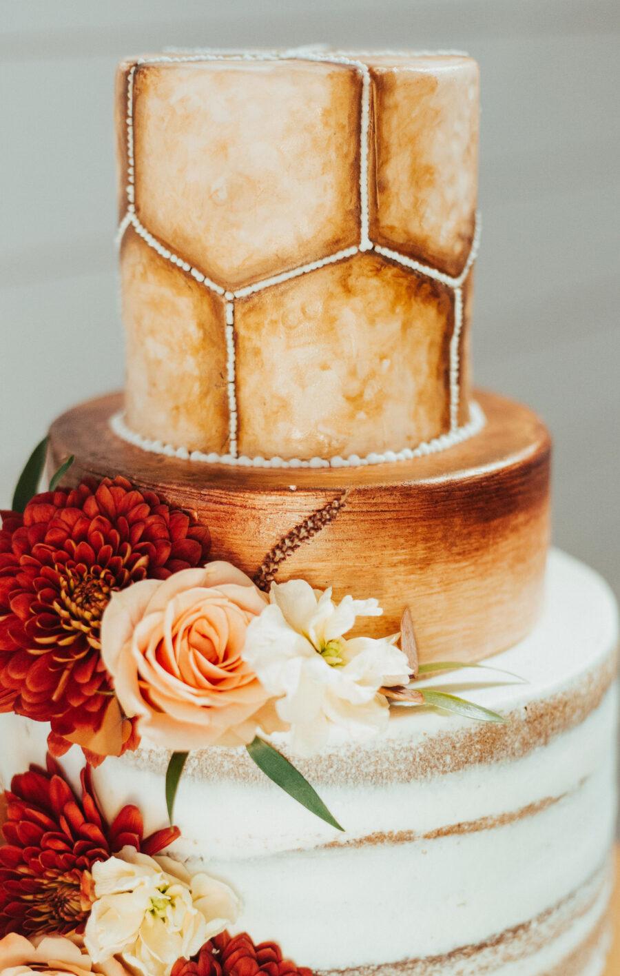 Boho wedding cake design: Bright Bohemian Photo Shoot from Ina J Designs