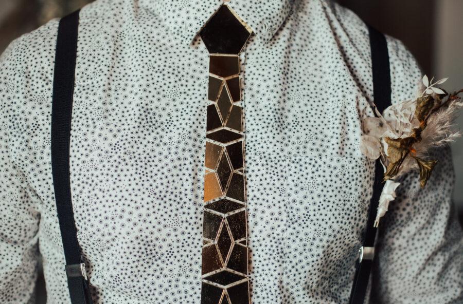Retro groom's attire: Bright Bohemian Photo Shoot from Ina J Designs