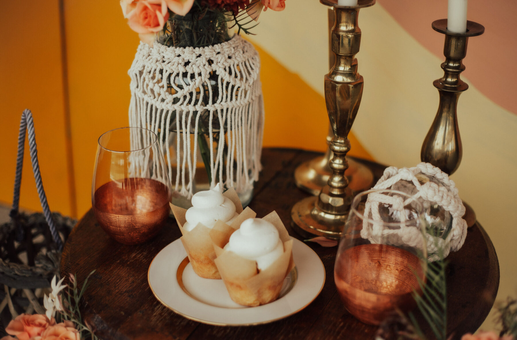 Wedding desserts: Bright Bohemian Photo Shoot from Ina J Designs