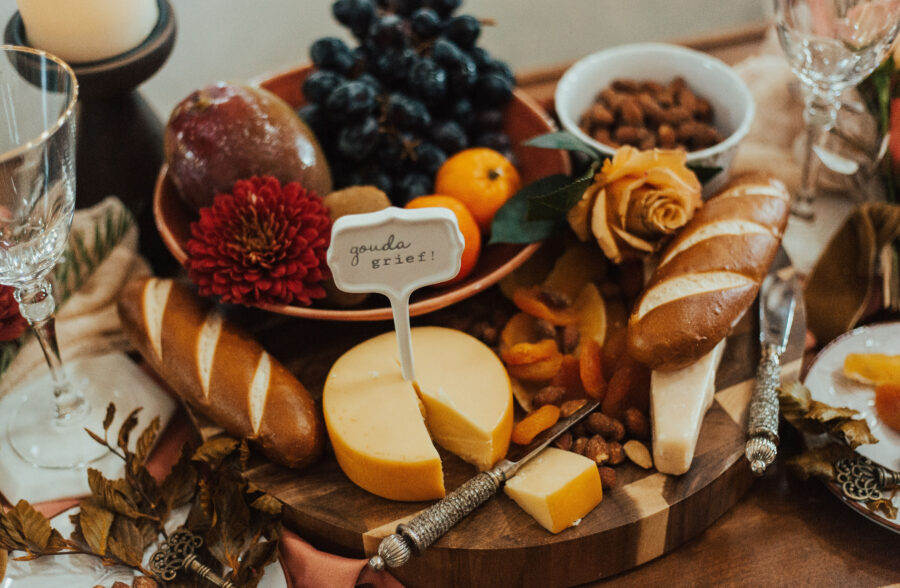 Wedding charcuterie board inspiration: Bright Bohemian Photo Shoot from Ina J Designs