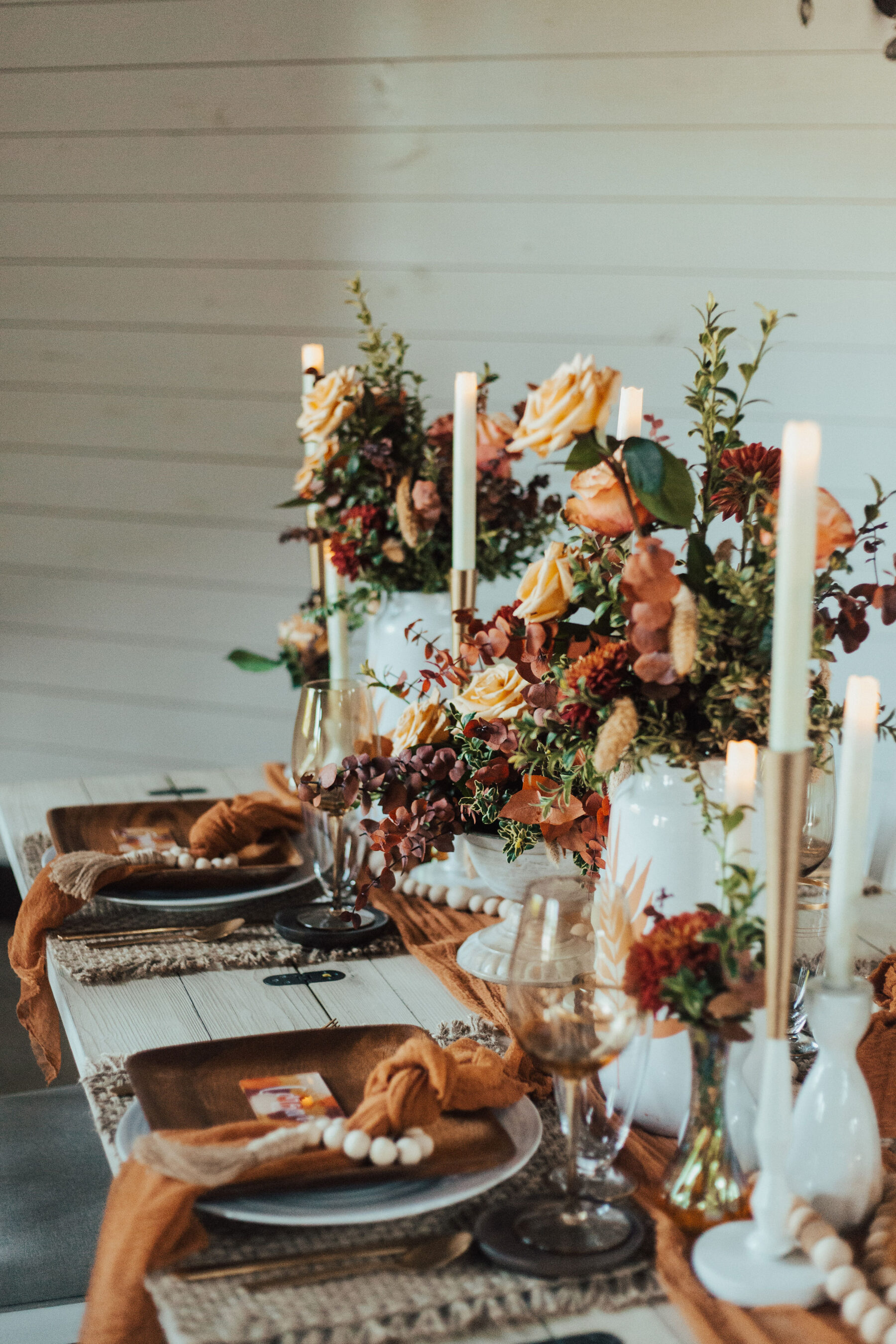 Wedding flower designs: Bright Bohemian Photo Shoot from Ina J Designs