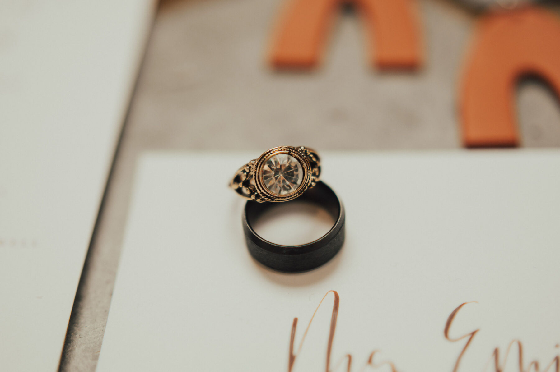 Antique wedding and engagement rings: Bright Bohemian Photo Shoot from Ina J Designs