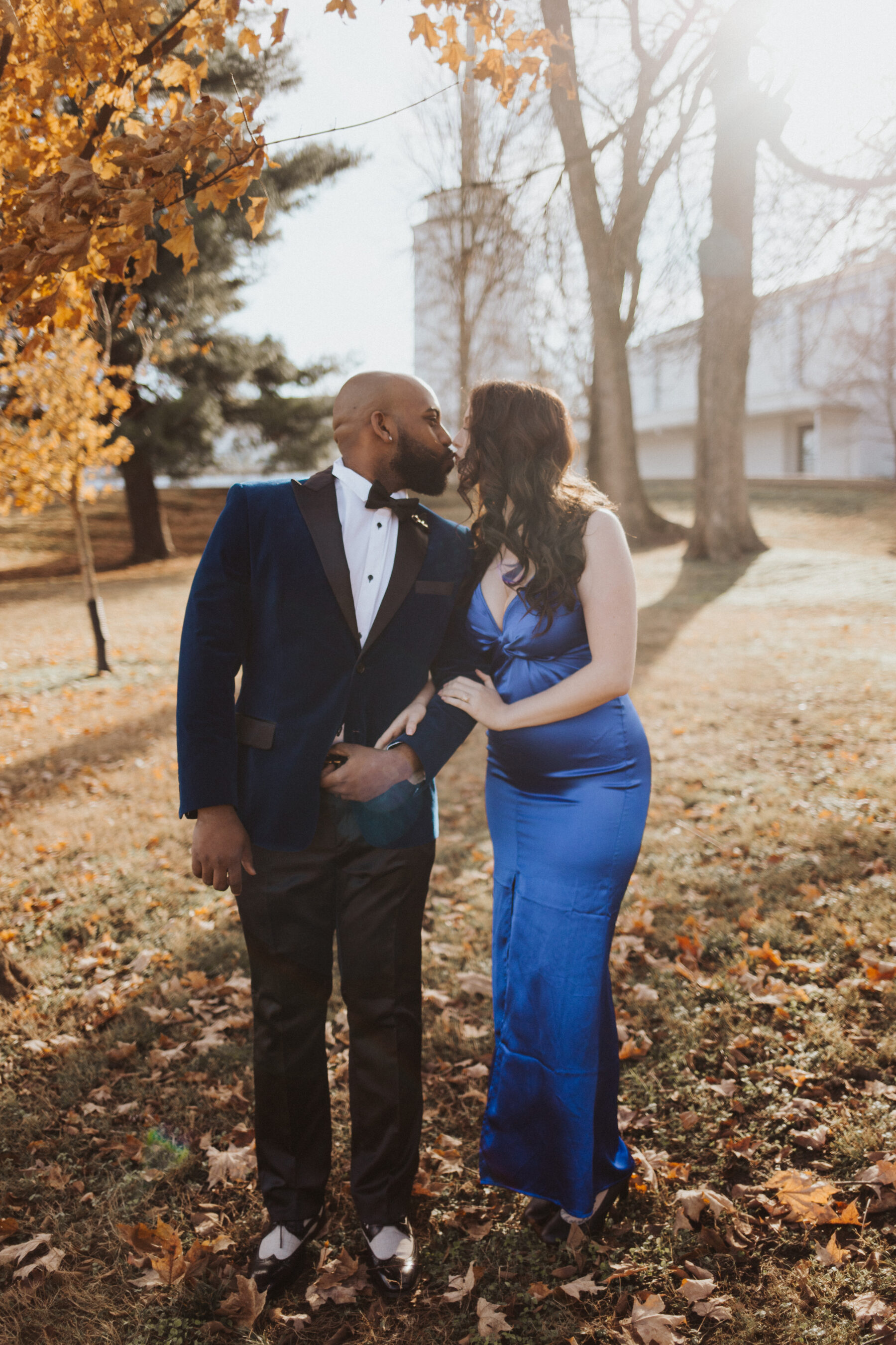 Stylish Santa's Tree Farm Engagement Session captured by Hannah Kerr Photography featured on Nashville Bride Guide