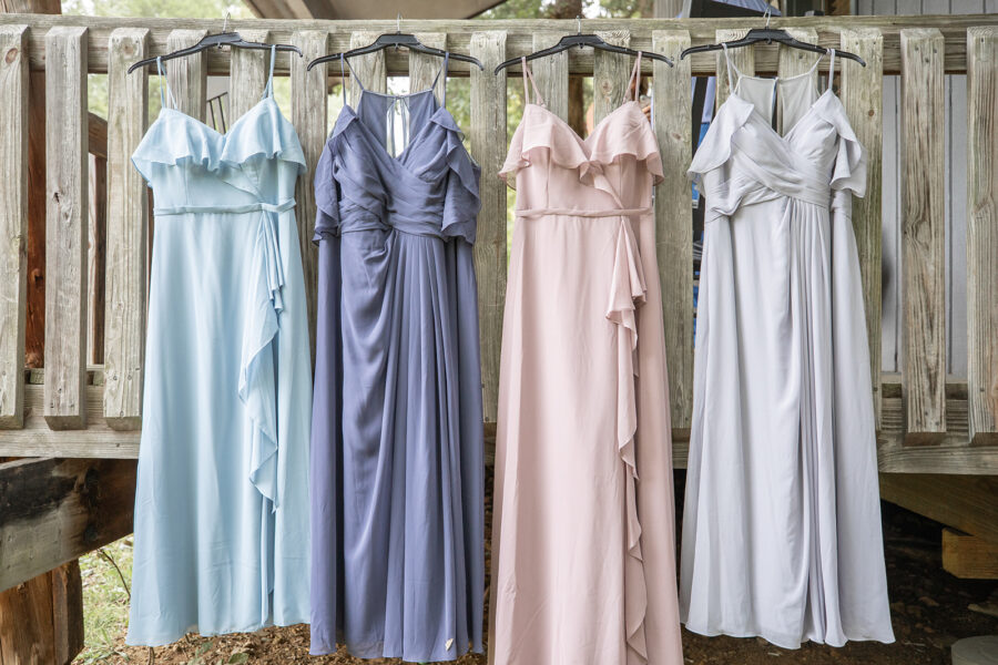Pastel Bridesmaids Dresses: Charming, Rustic Wedding at the Cedars of Lebanon State Park featured on Nashville Bride Guide