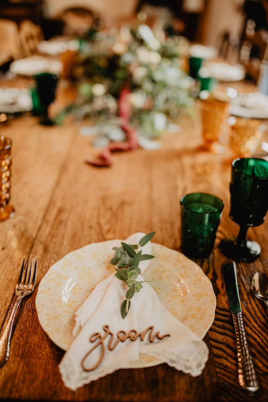 Laser cut wedding escort card: Stunning Fall Styled Shoot at Promise Manor featured on Nashville Bride Guide