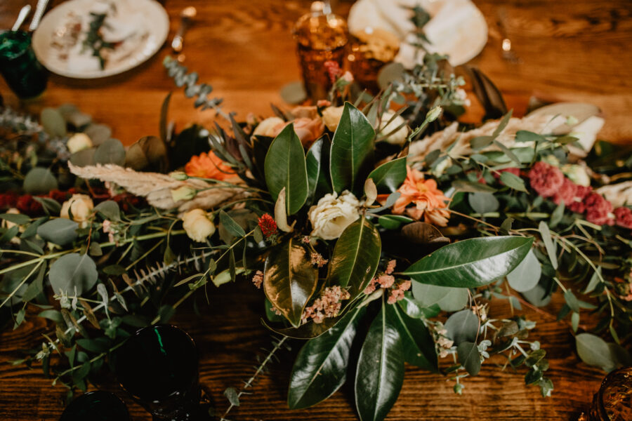 Wedding floral table decor: Stunning Fall Styled Shoot at Promise Manor featured on Nashville Bride Guide