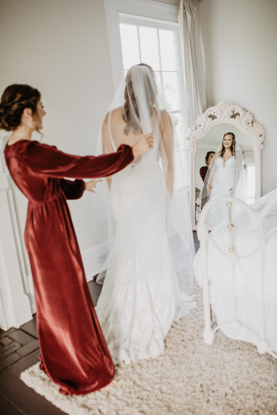 Getting ready wedding photography: Stunning Fall Styled Shoot at Promise Manor featured on Nashville Bride Guide