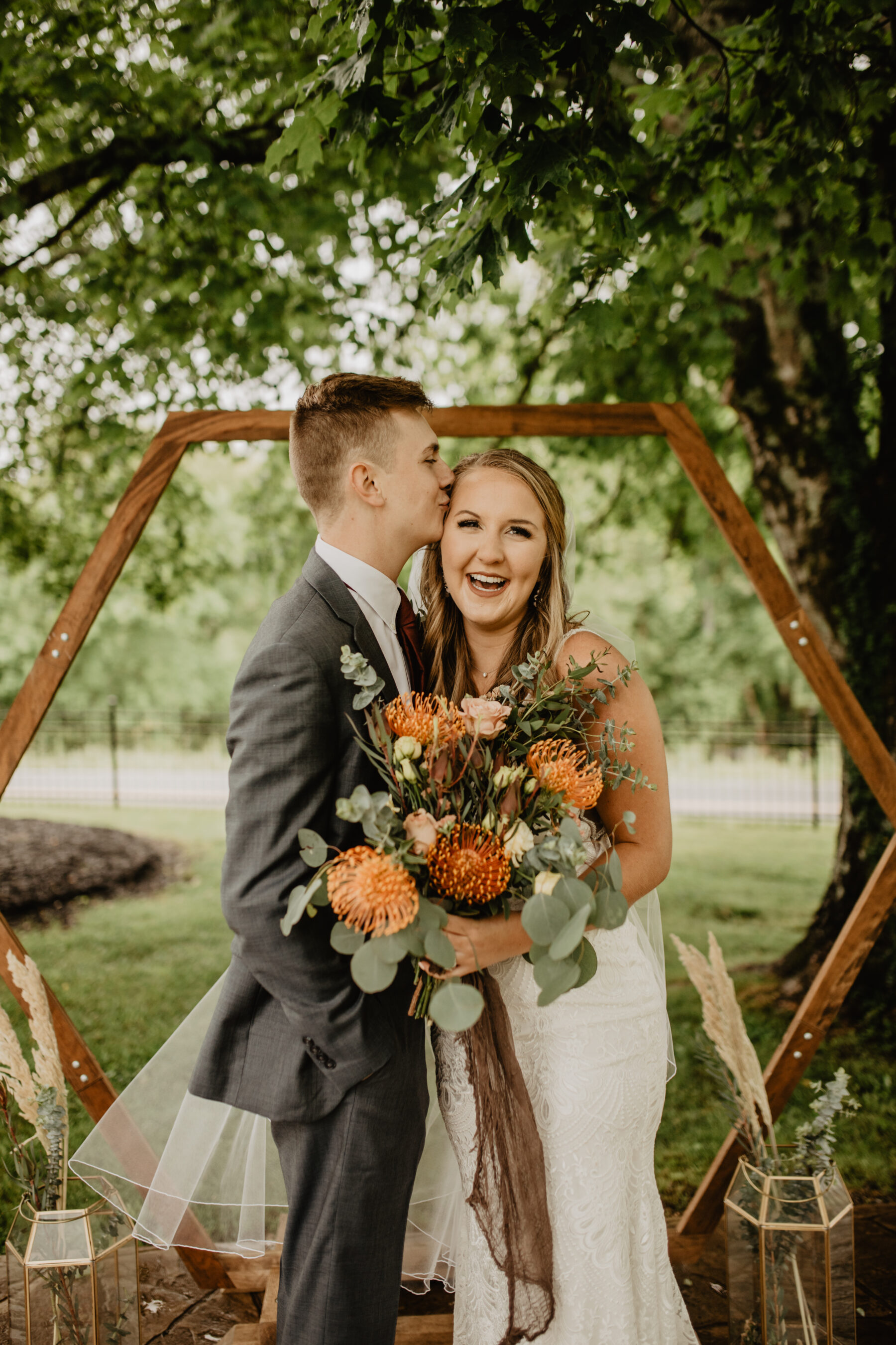 Wedding ceremony photos: Stunning Fall Styled Shoot at Promise Manor featured on Nashville Bride Guide