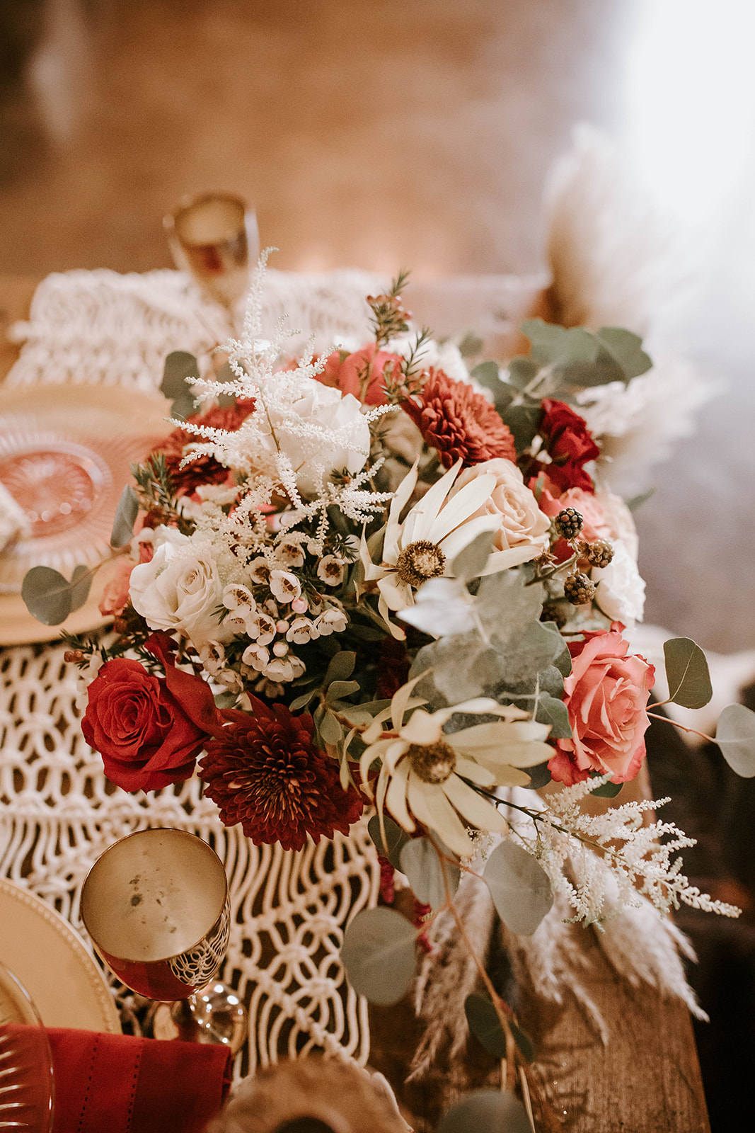 Bohemian wedding flower ideas: Surprise Vow Renewal by Tara Winstead Photography featured on Nashville Bride Guide
