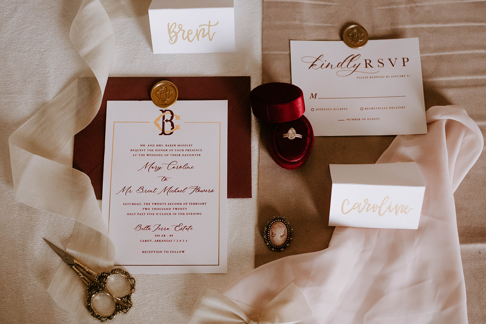 The Artsy Acorn wedding stationery: Surprise Vow Renewal by Tara Winstead Photography featured on Nashville Bride Guide