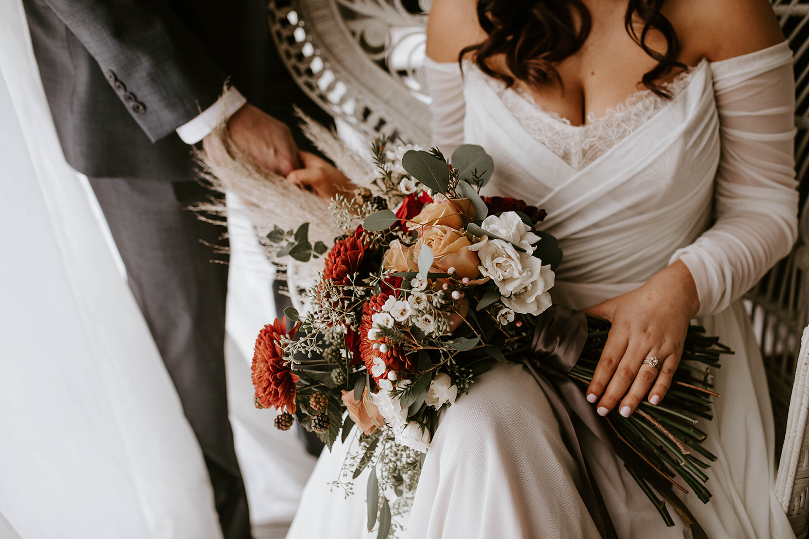 Boho wedding bouquet: Surprise Vow Renewal by Tara Winstead Photography featured on Nashville Bride Guide