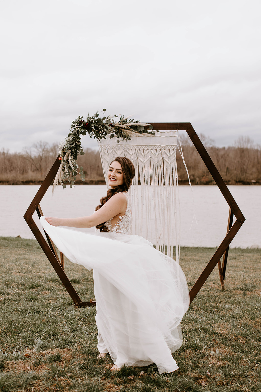 Geometric wedding backdrop: Surprise Vow Renewal by Tara Winstead Photography featured on Nashville Bride Guide