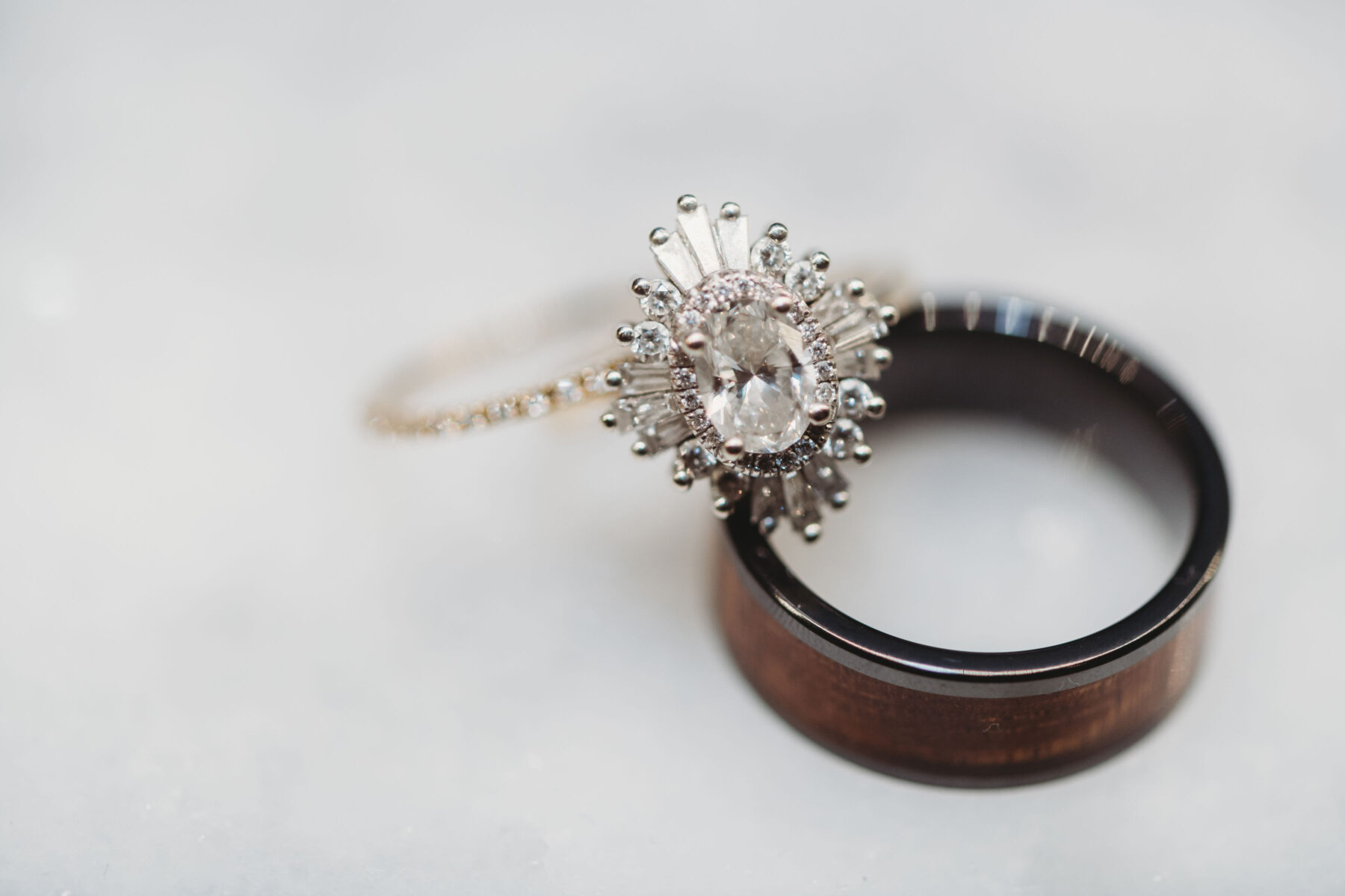 Wedding and engagement rings: Summer Tennessee Wedding at Noelle from Jayde J. Smith Events featured on Nashville Bride Guide